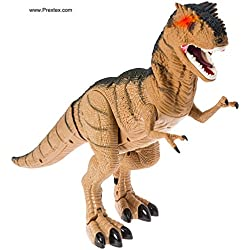 Prextex Battery Powered Walking Dinosaur Toy That Roars And Shakes While Eyes Are Blinking