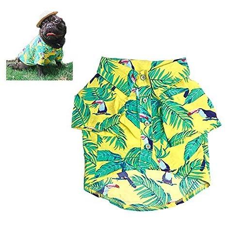 Meioro Ropa para mascotas Ropa para perros Cómoda camisa de perro Estilo hawaiano Estilo de vida