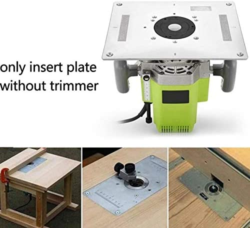 X-BAOFU, 1spc Multi-Functional Aluminum Router Table Insert Plate Trimmer Engraving Machine Woodworking Bench Router Plate (Size : Silver)