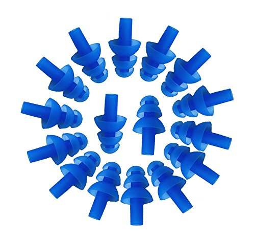 10 Pairs Blue Soft Silicone Earplugs Swim Flexible Ear Plugs Swimming Sleeping Noise