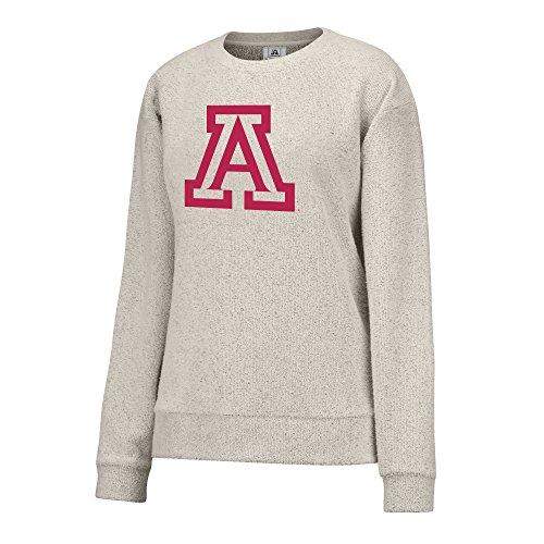 J America NCAA Arizona Wildcats Women's Innovator Crew Sweater, Medium, - Arizona Sweatshirt White