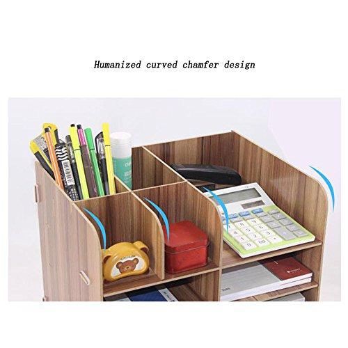 Bookcase Office Supplies Desktop Organizer File Organizer Storage Rack Storage Box,WoodColor by ANHPI-bookcase (Image #2)