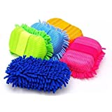 Blumfye Multipurpose Microfibre Wash and Dry Cleaning Sponge (Color May Vary)