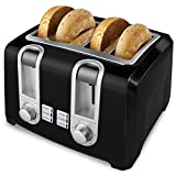 4-Slice Toaster in Black For Sale