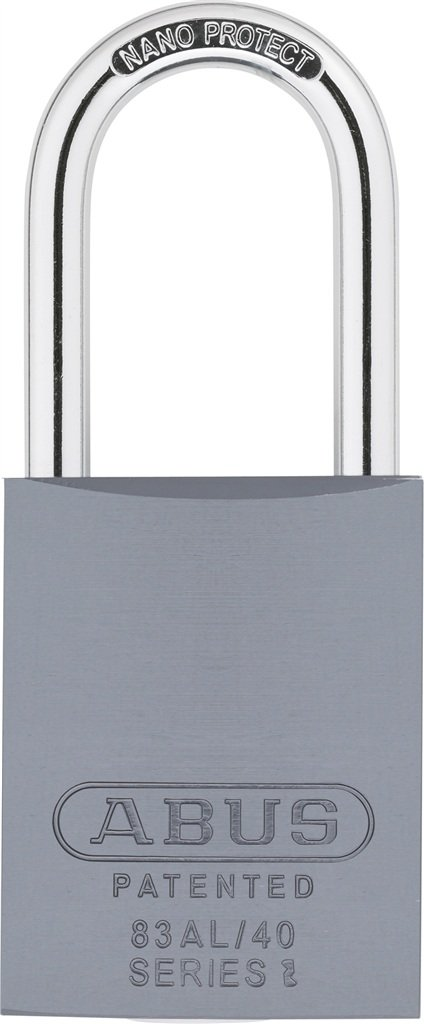 ABUS 83AL/40-300 S2 Schlage Rekeyable Padlock Aluminum Body with 1.5-Inch Shackle, Silver Zero-Bitted