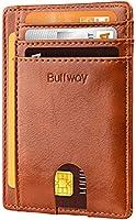 Slim Minimalist Front Pocket RFID Blocking Leather Wallets f