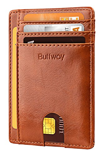 - Slim Minimalist Leather Wallets for Men & Women - Alaska Brown