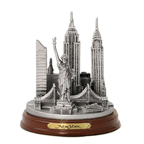 new-york-3-d-round-pewter-model