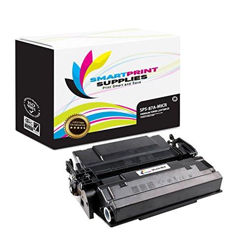 Smart Print Supplies Compatible 87A CF287A MICR Black Toner Cartridge Replacement for HP Laserjet M501 Enterprise M506 MFP M527 Printers (9,000 Pages)