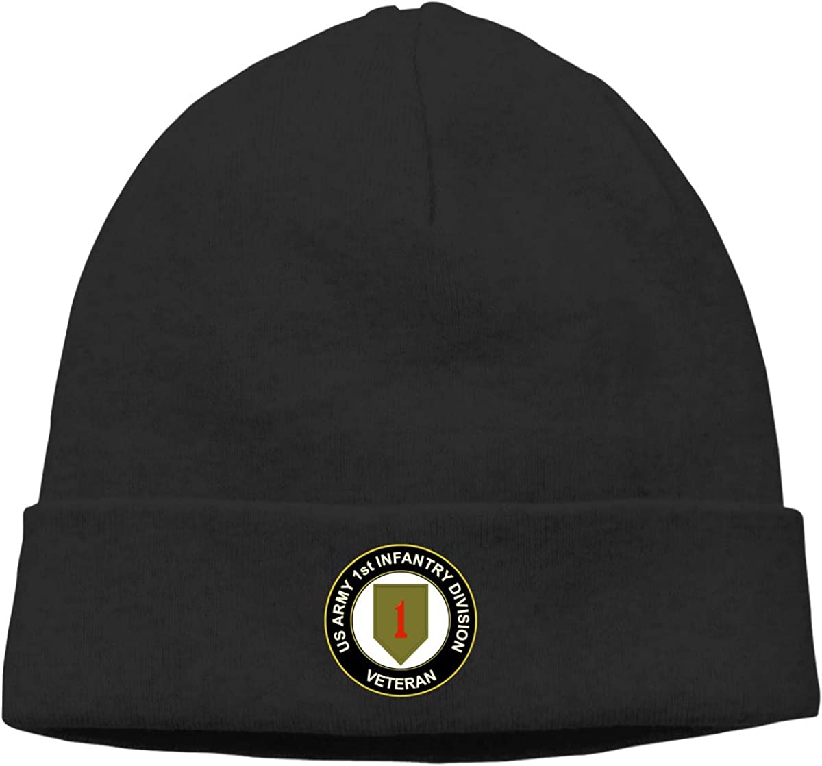 Army 1st Infantry Logo Men /& Women Comfortbale Soft Knit Cap Skully