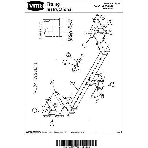 Witter Vl34a Fixed Flange Neck Tow Bar