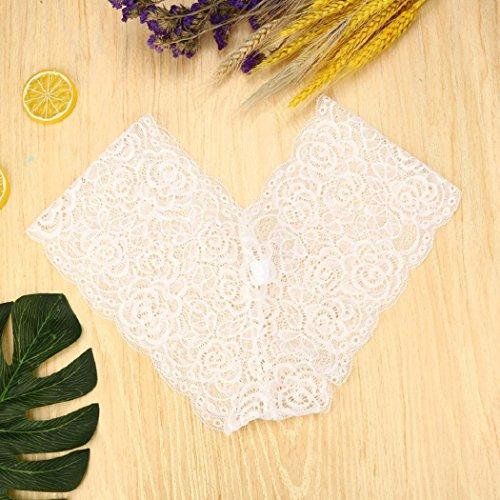 Women's Lace Underwear Briefs Bikini Lingeria Panties Floarl Thongs Sexy Seamless ShenPr White Knickers dEqpad