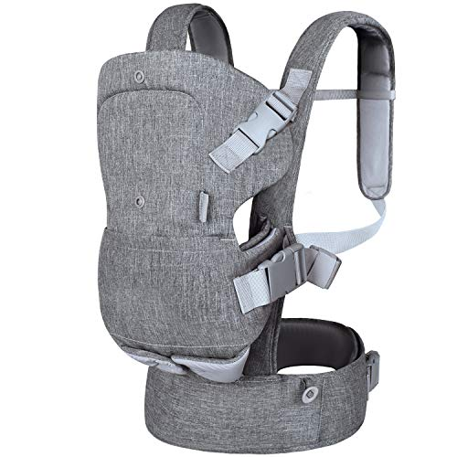 Metene Baby Carrier, 4-in-1 Adjustable Infants Holder, Soft and Breathable, Ergonomically Designed Kids Wrap with Removable Bib, Toddler Carrier Perfect for Newborn Babies and Children up to 33 lbs