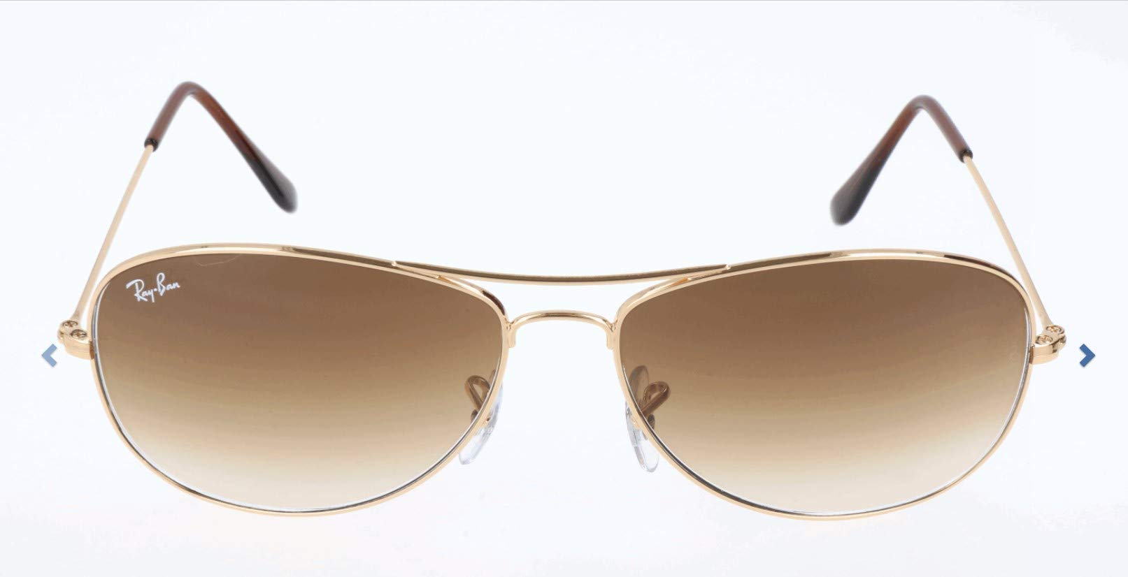 Ray-Ban RB3362 Cockpit Aviator Sunglasses, Gold/Brown Gradient, 56 mm