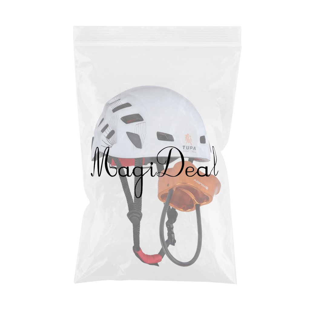 MagiDeal Casco de Seguridad Alpinismo Escalada Rapel Proteger Engranaje Blanco+Aleación De Aluminio 25 KN Dispositivo Belay Rappel: Amazon.es: Deportes y ...