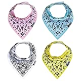 """Baby Bandana Drool Bibs for Drooling and Teething 4 Pack Gift Set For Boys and Girls """"Light Paisley"""" by Stormbaby"""