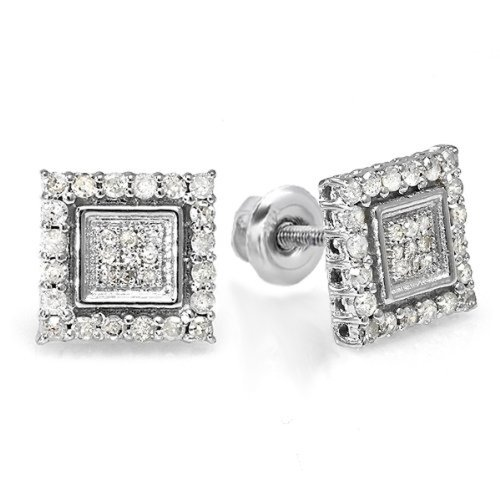 Tw Diamond Cluster Earrings - 6