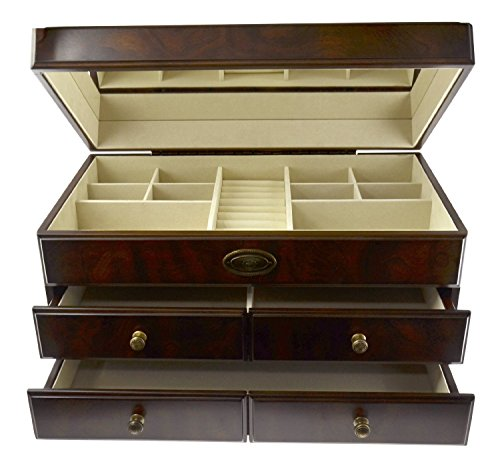 New Large Wood Jewelry Box Storage Container Brand Bombay Dimensions 10 by Bombay Company