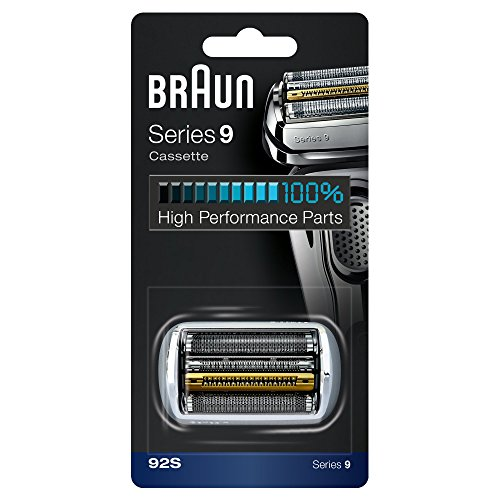 Braun Series 9 Electric Shaver Replacement Cassette Cartridge Foil, 92S, Silver ()