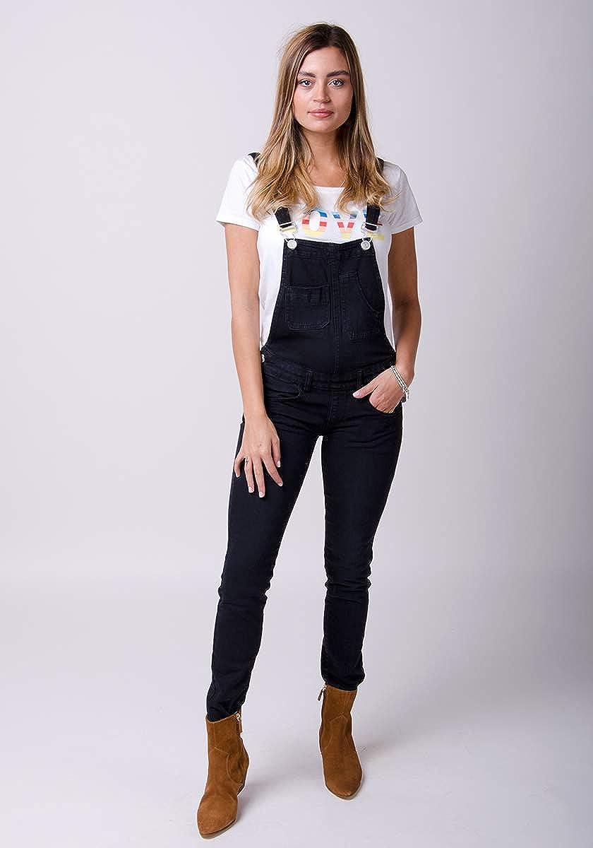 Wash Clothing Company Peto Mujer - Negro Overalls Peto Corte Slim TALIA1BLACK: Amazon.es: Ropa y accesorios