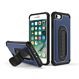 5-in-1 Scooch Clipstic Pro Case for iPhone 7 (Steel Blue)