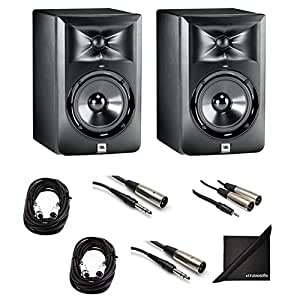 jbl lsr 305 studio monitor pair with xlr for mixing boards trs to xlr for. Black Bedroom Furniture Sets. Home Design Ideas