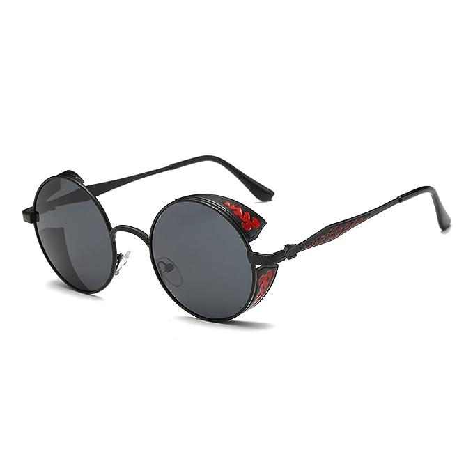67615d98f29 SZ·LINGKE Polarized Unisex Oversized Vintage Round SunGlasses For Men Women  Driving Cycle Big Metal