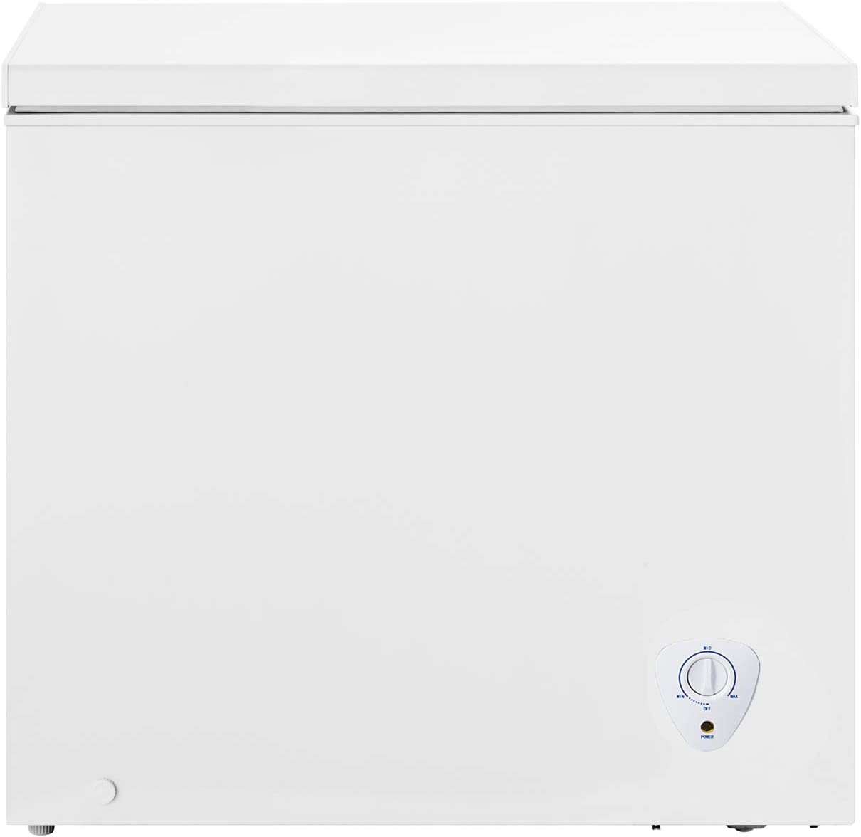 Techomey Chest Freezer 5 CU. FT, Deep Freezer, Top Open Door with Adjustable Thermostat Control&Removable Wire Basket, White