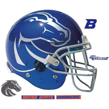 Boise State Broncos FATHEAD Team Helmet Logo Re-Usable and Removable Official NCAA Vinyl Wall Graphic 12