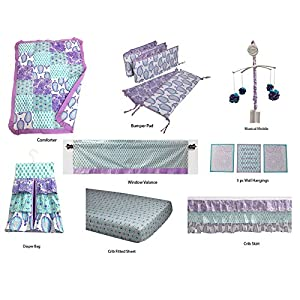 51dLHv35U3L._SS300_ Mermaid Crib Bedding and Mermaid Nursery Bedding Sets