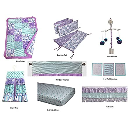 51dLHv35U3L._SS450_ Mermaid Crib Bedding and Mermaid Nursery Bedding Sets