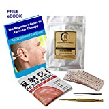 Multi-Condition Ear Seed Acupressure Kit 600 counts, eBook Placement Chart, Probe, Acupuncture Ear Chart, Tweezers