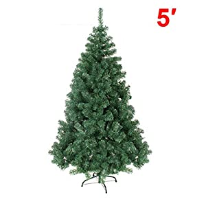 "BenefitUSA New Classic Pine Christmas Tree Artificial Realistic Natural Branches Unlit, 37"" L, Green 13"