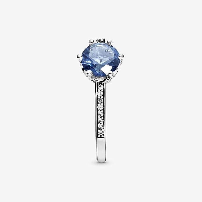 Pandora 198289NSWB Bague pour femme Blue Sparkling Crown
