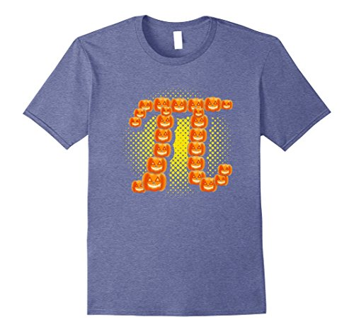Mens Funny Pie Pumpkin Pi Halloween Costume Math T-Shirt Medium Heather (Mathlete Halloween Costume)