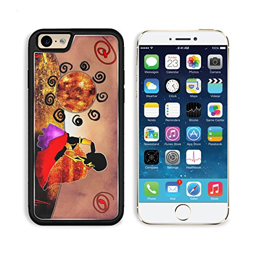 Apple iPhone 6 6S Aluminum Case African art ethnic retro vintage IMAGE 34462055 by MSD Customized Premium Deluxe Pu Leather generation Accessories HD Wifi Luxury - African Pictures Hut