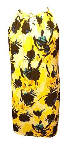 - Ivanka Trump Womens Printed Matte Jersey with Hardware Chain (X-Small, Yellow/Navy Multi)