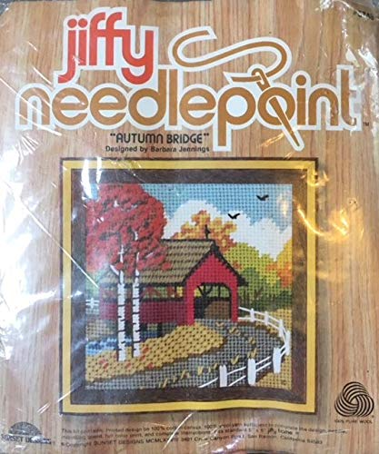 - AUTUMN BRIDGE Jiffy Needlepoint Kit # 5748