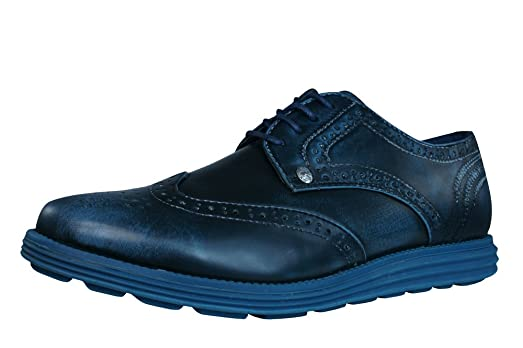 Firetrap Bud Mens Lace up Brogues / Shoes-Navy-8