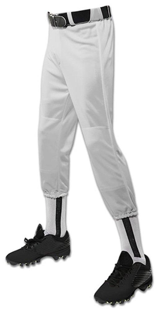 Champro パフォーマンスプルアップ野球パンツ ベルトループ付き ユース用 B01N4K3LQB Medium|グレー グレー Medium