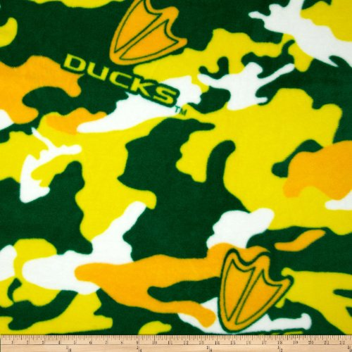 (Sykel Enterprises University of Oregon Fleece Camo, Green/Yellow)