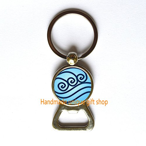 (Modern Fashion Bottle Opener Keychain,Beautiful Bottle Opener Keychain ,Water Tribe Bottle Opener Keychain Key Ring Avatar the Last Airbender Jewelry,Friends Gift-RC245 )