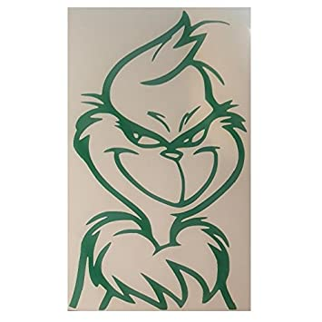 Christmas Vinyl Decals.Grinch Christmas Vinyl Decal Sticker Green For Glass Plastic Or Metal
