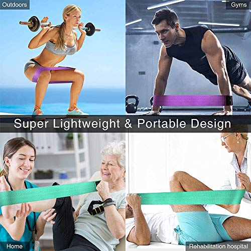 ANDSTON Resistance Bands for Legs and Butt, Non-Slip & Thicken Loop Booty Bands, 3 Resistance Levels Fabric Exercise Band Workout Bands Women Sports Fitness Band for Squat Glute Hip Training