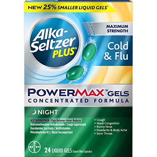(Alka-seltzer Plus Maximum Strength Cold & Flu Power Max Gels Night, 24)
