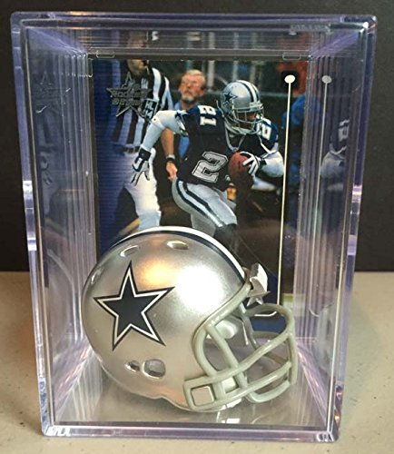 Dallas Cowboys NFL Helmet Shadowbox w/ Deion Sanders card