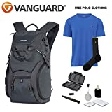 Vanguard ADAPTOR 48 Backpack + Ralph Lauren T-Shirt + Ralph Lauren Socks +Cleaning Kit 4pc + Lens Pen Cleaning Brush + Memory Card Wallet