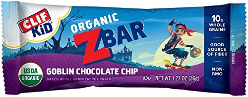 CLIF KID ZBAR - Organic Energy Bar - Goblin Chocolate Chip - (1.27 oz, 18 Count)