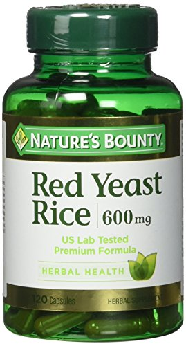Nature's Bounty Red Yeast Rice Pills and Herbal Health Supplement, 600mg, 120 Capsules