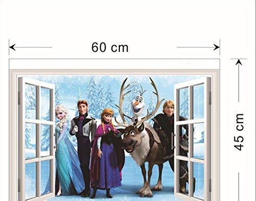 Disney Frozen kids Cartoon Window sticker Mural Decals Removable Wall Stickers 45*60cm